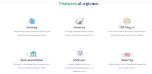 Zoho Features at a glance