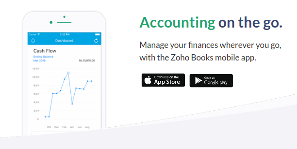 Zoho Books Mobile App