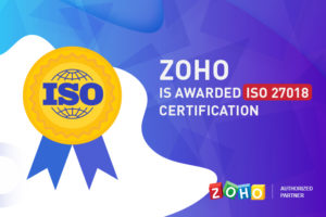 Zoho is awarded for ISO Certification