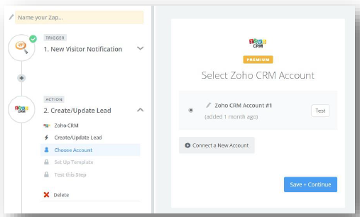 Select Zoho CRM Account