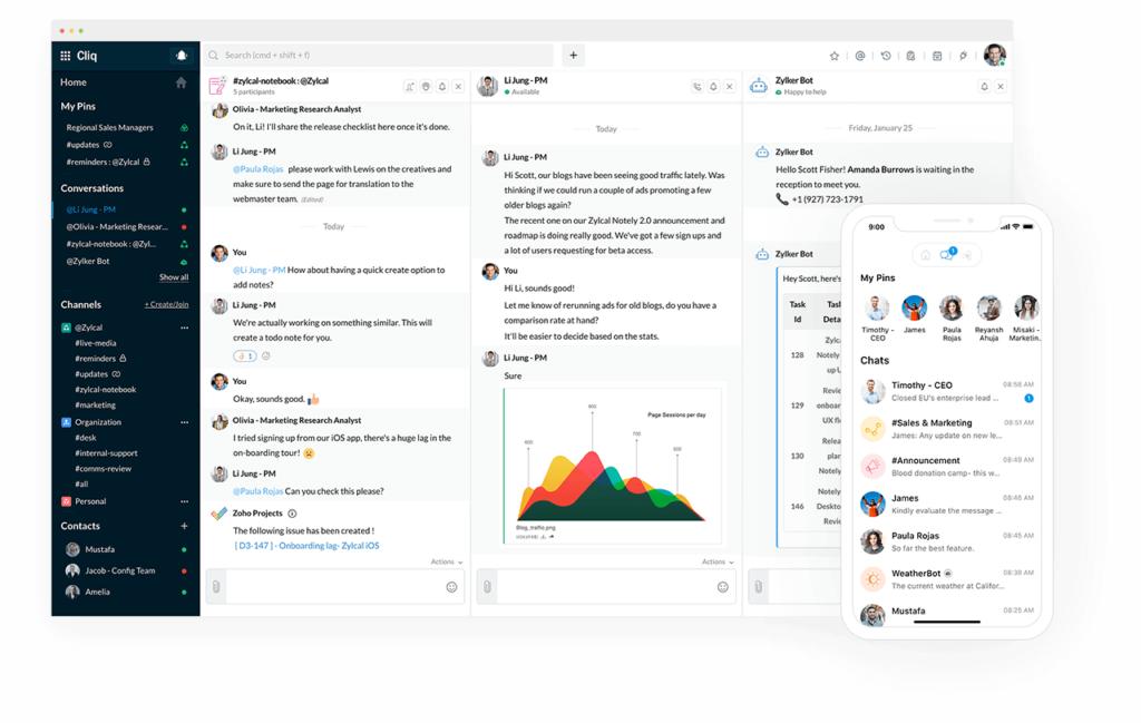 Zoho Cliq – Online Chat Platform