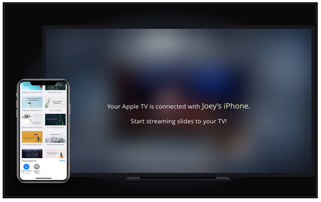 Zoho Show App for Apple TV & iPhone
