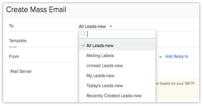 Create Mass Email