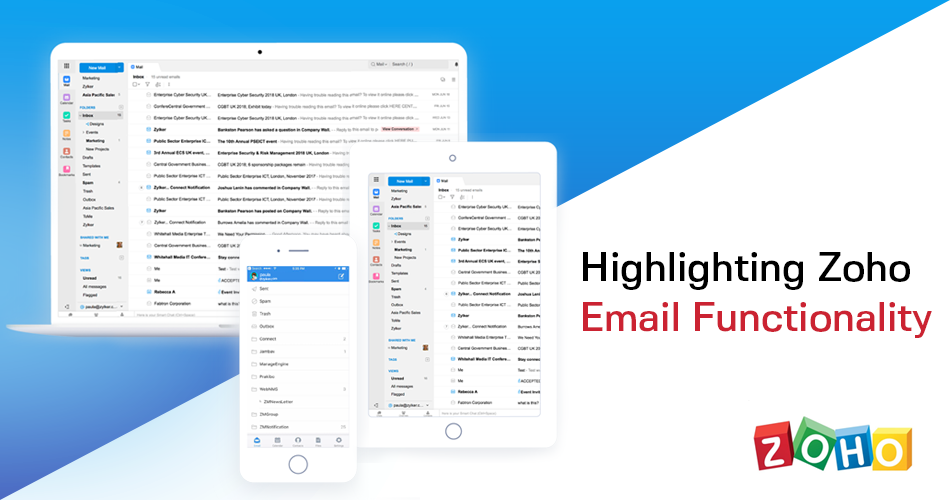 Highlighting Zoho Email Functionality