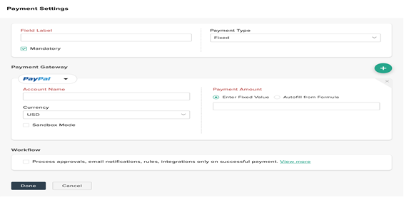 Zoho Forms Payment Options