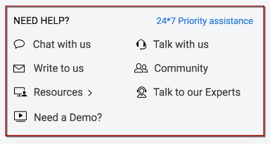 The Need Help section in Zoho CRM Profile Page Has Been Updated