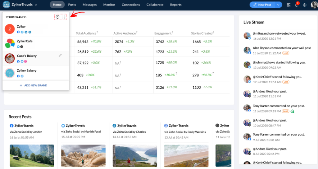 Zoho Social Announces New Features – July Updates