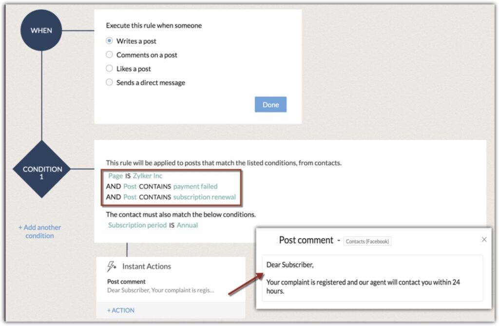 Zoho CRM Adds Facebook and Twitter Workflows