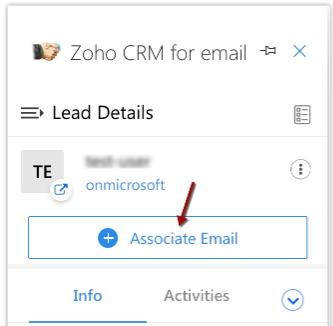 Zoho CRM Allows You to Associate Emails with a Record using Outlook Plug-in