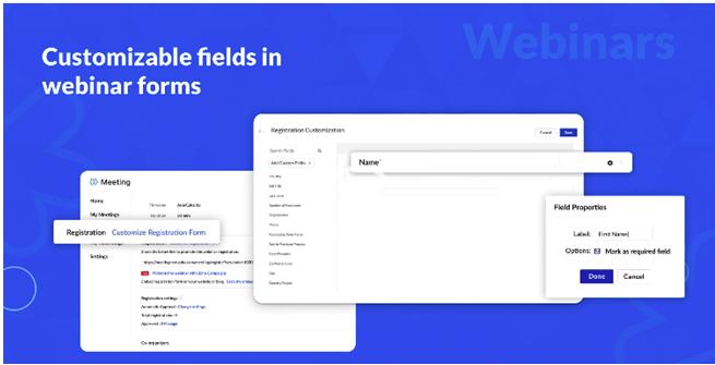 Webinar Fields