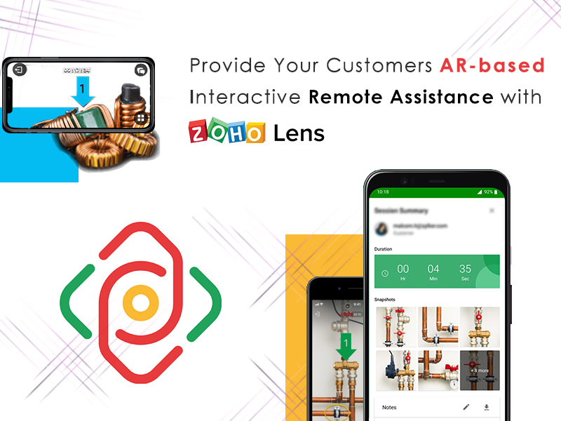 Provide Your Customers AR-based Interactive Remote Assistance with Zoho Lens