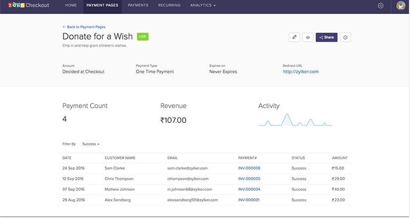 Zoho Finance Plus - Zoho Checkout