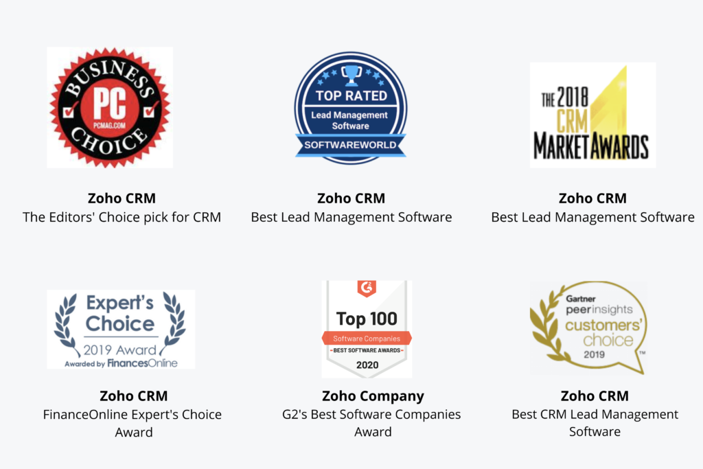 Zoho One is an Award-Winning, Comprehensive Suite of Solutions