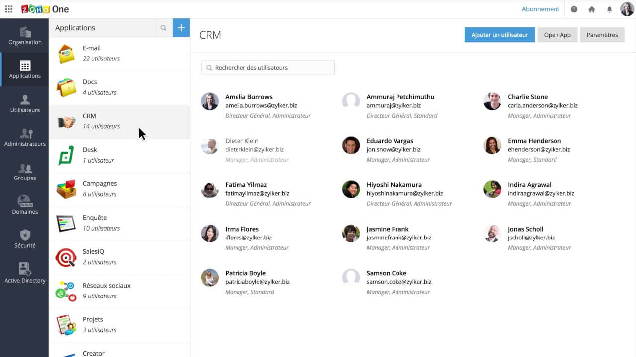 Zoho Feature Highlights