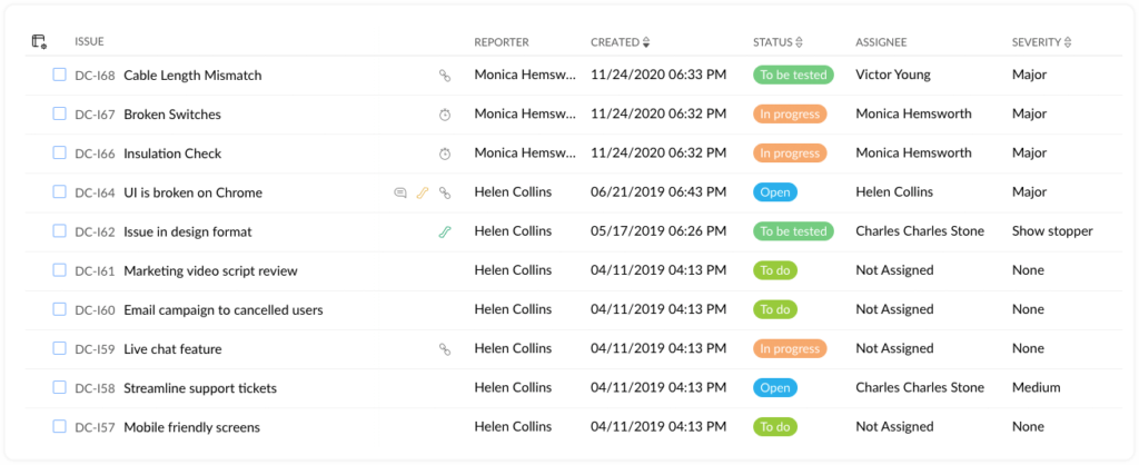 Issue Management in Zoho Projects