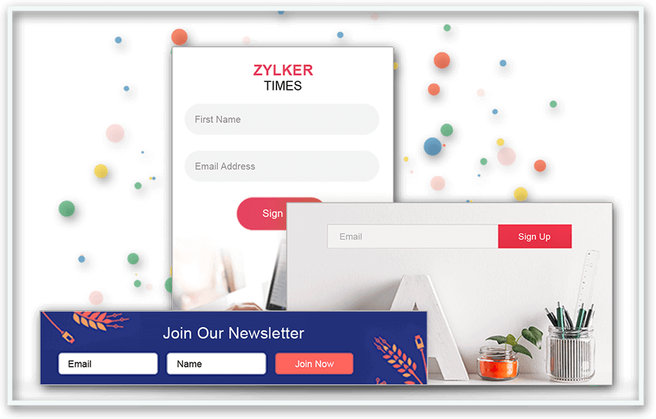 Zoho Campaigns Email Signups