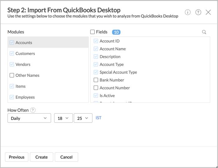 Zoho Setting and Analytics and QuickBooks Integration